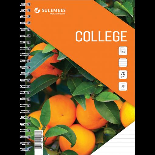College A5, 60 lehte, jooneline – oranž