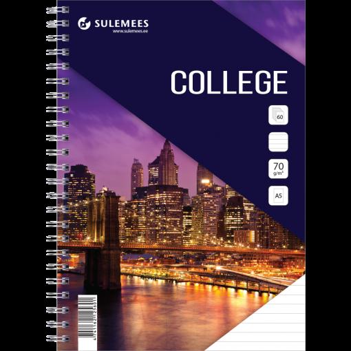 College A5, 60 lehte, jooneline – lilla