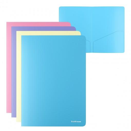 L-tasku kahe taskuga A4 Matt Pastel, läbipaistmatu, assortii
