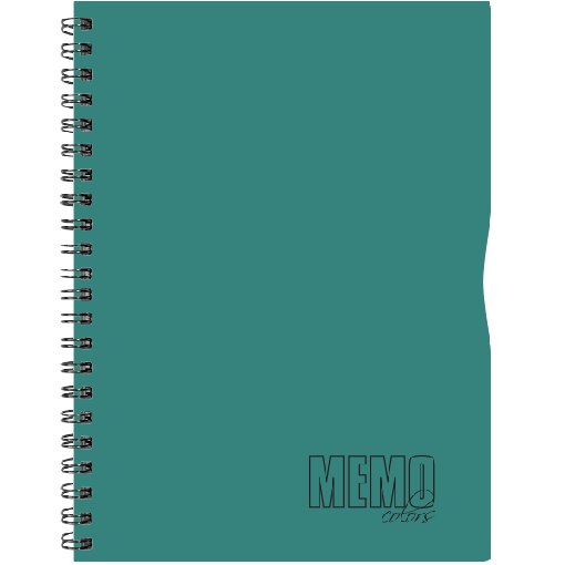 Memo Colour A4 joon, 80 lehte – roheline