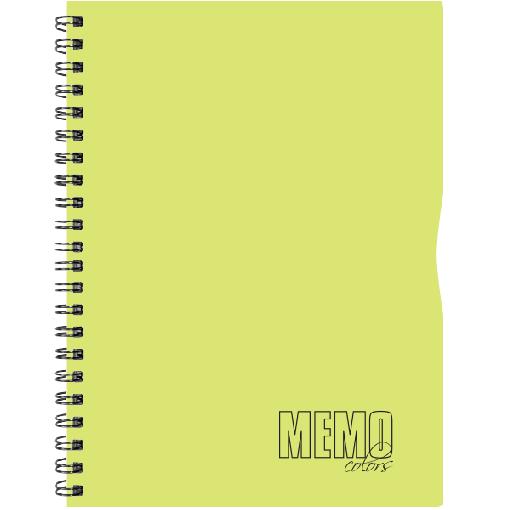 Memo Colour A4 ruut, 80 lehte – kollane