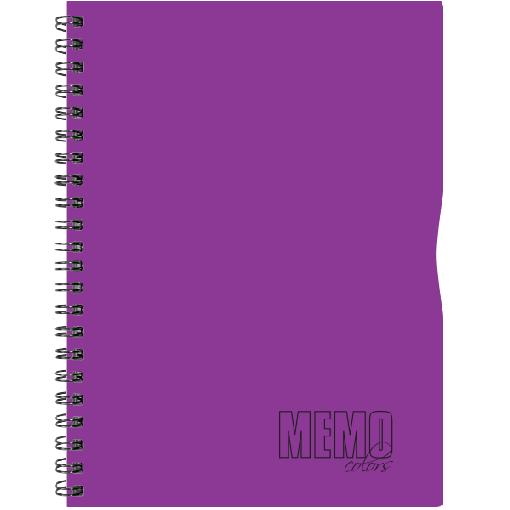 Memo Colour A4 ruut, 80 lehte – lilla