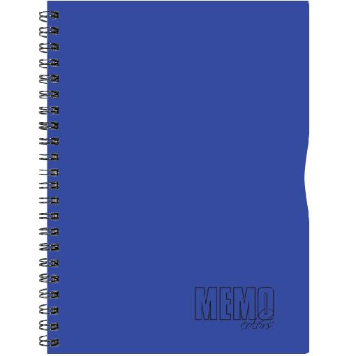 Memo Colour A4 ruut, 80 lehte – sinine
