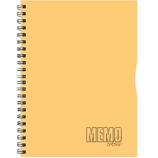 Memo Colour A5 ruut, 80 lehte – oranž