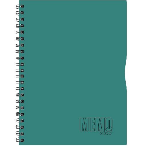 Memo Colour A5 ruut, 80 lehte – roheline