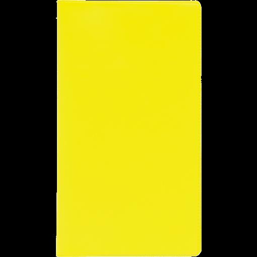 Ruuduline märkmik 76x134 mm, 60 lehte, spiraalköide, plastkaaned – kollane