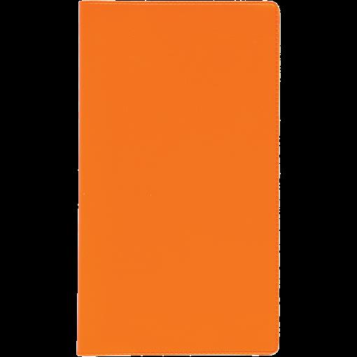 Ruuduline märkmik 76x134 mm, 60 lehte, spiraalköide, plastkaaned – oranž