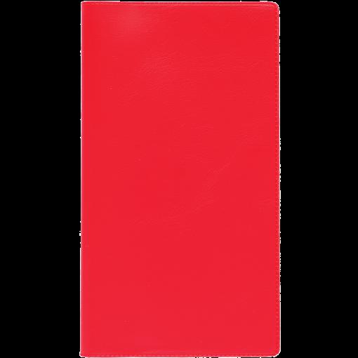 Ruuduline märkmik 76x134 mm, 60 lehte, spiraalköide, plastkaaned – punane
