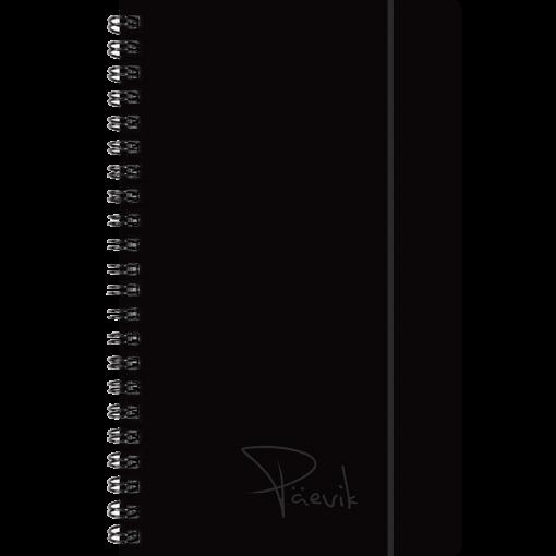 Väike koolipäevik, spiraalköide – must