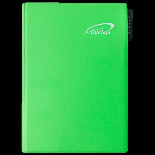 Õpetaja raamat, mahulised plastkaaned – heleroheline