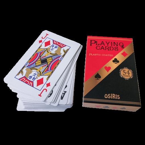 Mängukaardid OSIRIS, 54 kaarti, plastkate