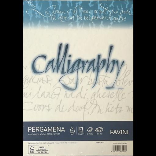 Kalligraafiapaber A4 Pergamena Naturale (06) 90gr, loodusvalga, 50 lehte pakis