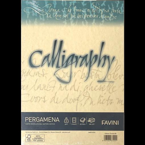 Kalligraafiapaber A4 Pergamena Crema (05) 90gr, kreem, 50 lehte pakis