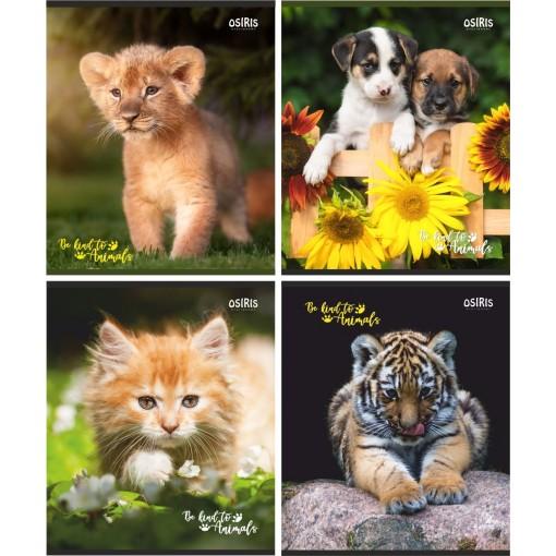 Kaustik 48 lehte ruut, 80gr paber, Be Kind to Animals