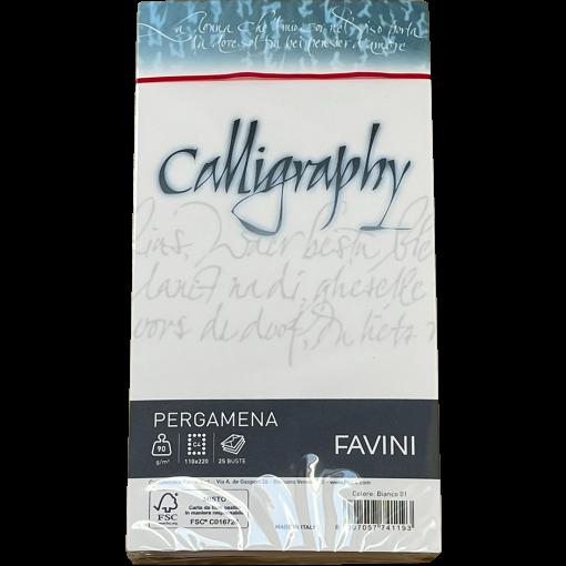 Kalligraafiaümbrik C65 Pergamena Bianco (01), valge, 25tk pakis
