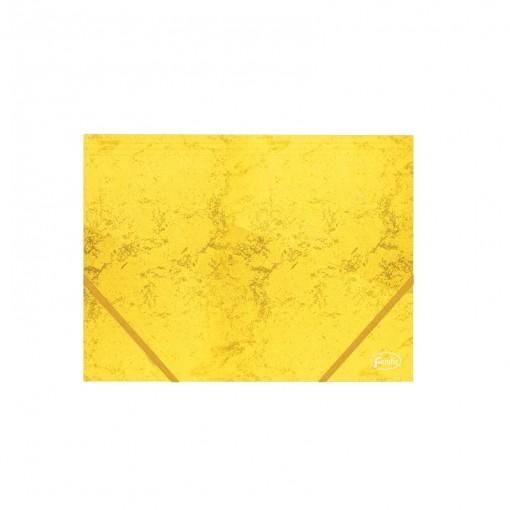 Nurgakummiga kartongmapp A4 Forofis 350g/m2, kollane