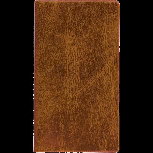 Ruuduline märkmik 76x134 mm, 60 lehte, spiraalköide, plastkaaned – pruun