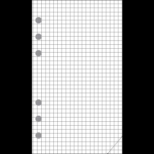 Compact-A6 ruudulised lehed (30tk)
