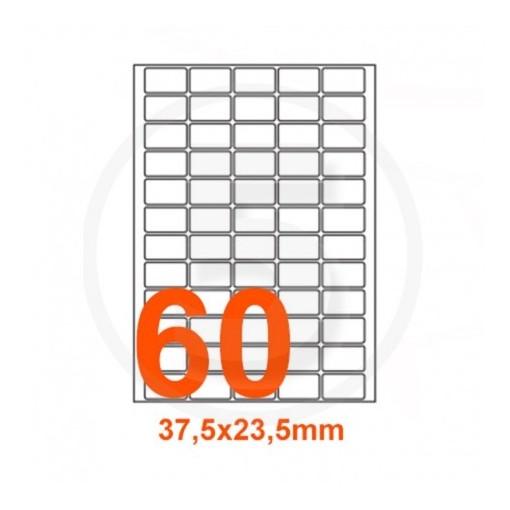 Etikett A4 Utility 37,5 x 23,5 mm, 100 lehte, 60tk lehel