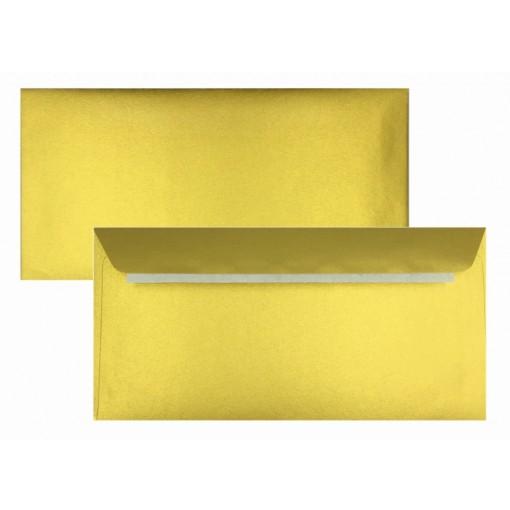 Ümbrik C65 114x229mm, kuld, 120gsm
