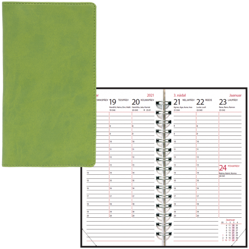 Pocket planner EURO, LUX covers, all cover colours