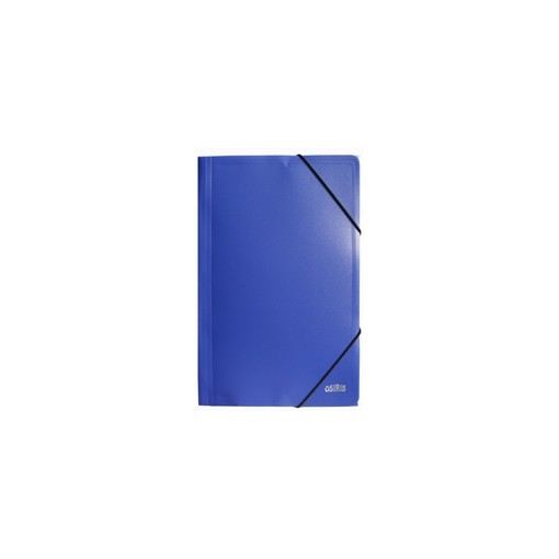 Nurgakummiga plastmapp A4 Osiris, sinine