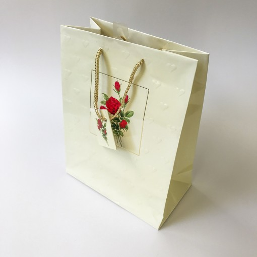 Gift bag Rose in window 18*23*10 cm.