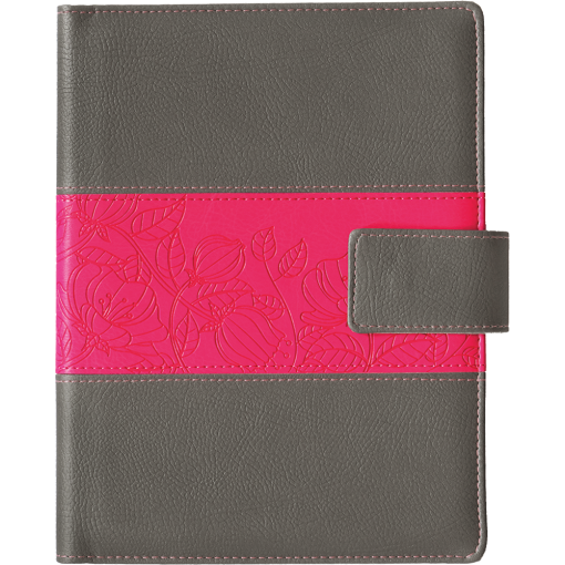 Boss Week A5 vertical, FASHION covers (gray/pink)