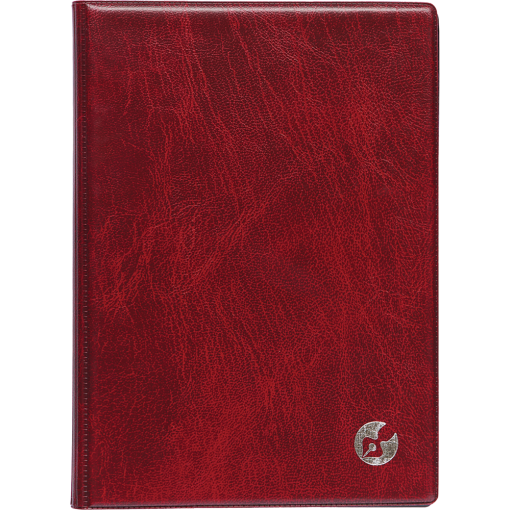 Boss Week A5 universal, plastic covers (dark red)