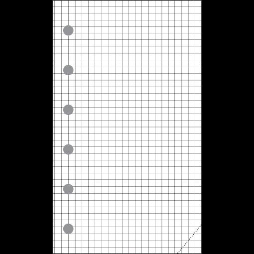 Mini-A7 (19mm) gridded sheets (30pcs)